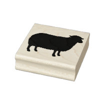Sheep Silhouette Rubber Stamp