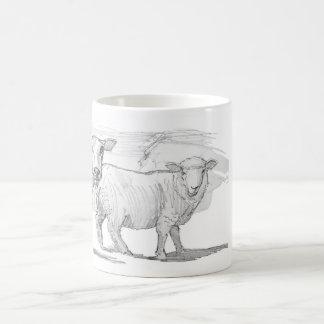 Sheep Sketch Drawing Coffee Mug