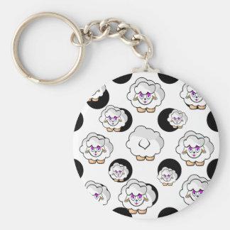 sheep small balls keychain