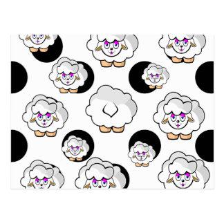 sheep small balls postcard