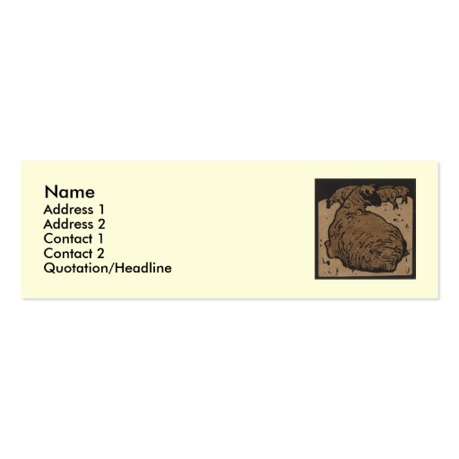 Sheep - Square Animals Illustration Double-Sided Mini Business Cards (Pack Of 20)