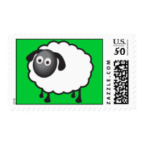 Sheep Stamp with Customizable Background Color