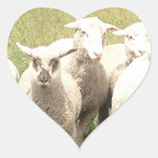 Sheep Stampede Heart Sticker