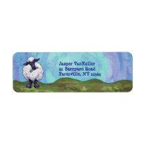 Sheep Stationery Label