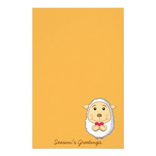 Sheep Stationery Yellow
