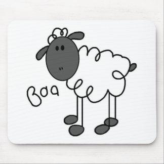 Sheep Stick Figure Mousepad