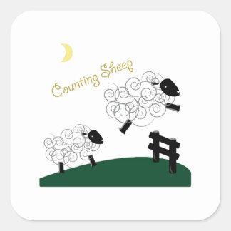 Sheep Square Sticker