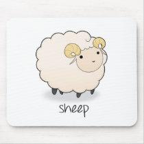 Sheep stuff mouse pad