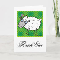 Sheep Thank You Card