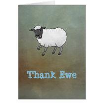 Sheep thank you  card. card
