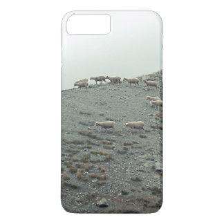 Sheep Themed, Herded Flock Of Sheep In Neatly Rows iPhone 7 Plus Case