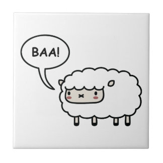 Sheep! Small Square Tile
