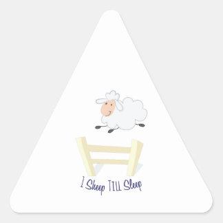 Sheep Till Sleep Triangle Sticker