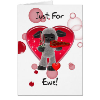 Sheep Valentine s Day Card - Just For Ewe