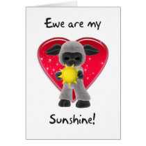 Sheep Valentine's Day Card - Ewe Are My Sunshine
