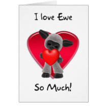 Sheep Valentine's Day Card - I Love You So Much
