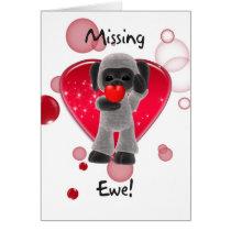 Sheep Valentine's Day Card - Missing Ewe