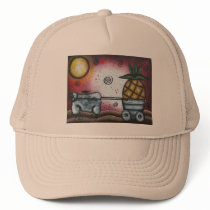 Sheep Wagon, By Lori Everett Trucker Hat