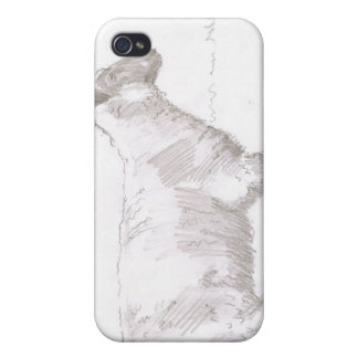 sheep walking pencil sketch iPhone 4 case
