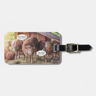 Sheep Want Cake Bag Tag