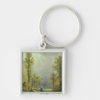 Sheep watching a Storm Keychain