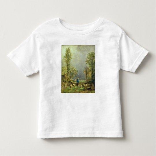 Sheep watching a Storm Toddler T-shirt