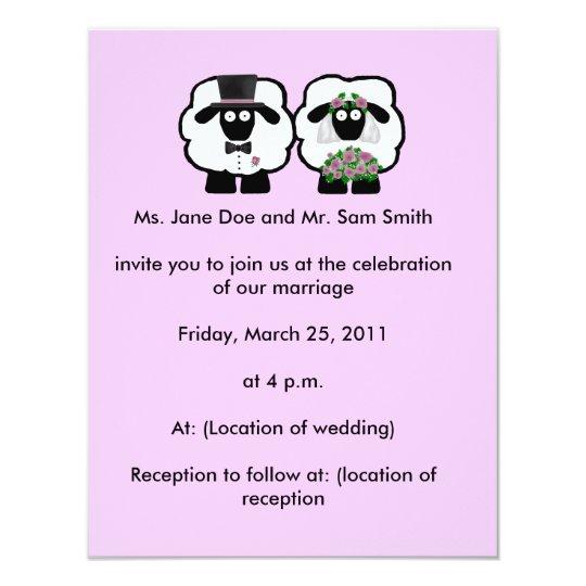 Sams Club Wedding Invitations: Sheep Wedding Invitation
