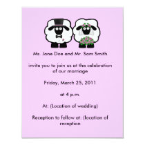 Sheep Wedding Invitation