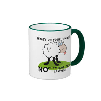Sheep What's On Your Lawn T-shirts and Gifts Ringer Coffee Mug