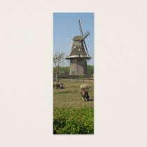 Sheep & Windmill Holland Bookmark Gift Mini Business Card