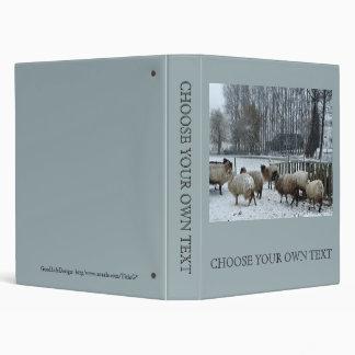 Sheep - Winter season 3 Ring Binders
