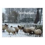 Sheep - Winter season Custom Invitations
