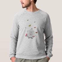 Sheep with flowers and butterflies Z1mk7 Sweatshirt