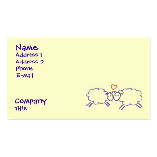 Sheep with Heart Double-Sided Standard Business Cards (Pack Of 100)