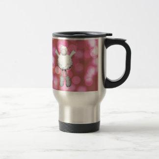 Sheep with pantone background travel mug