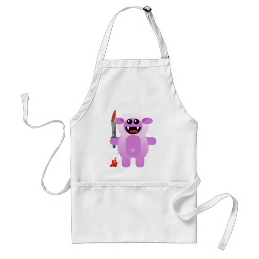 SHEEP WITH SHARP KNIFE APRONS