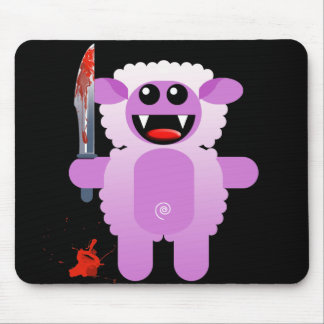 SHEEP WITH SHARP KNIFE MOUSE PAD