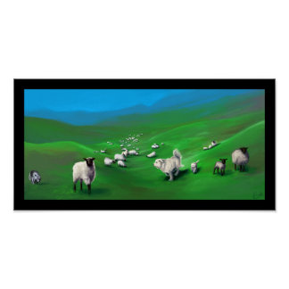 Sheep, Wolves, and Sheepdogs Poster
