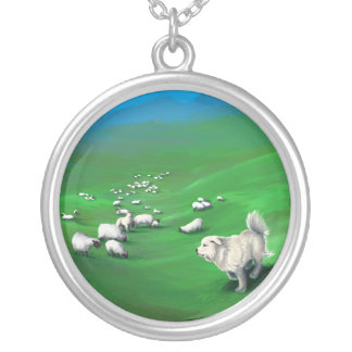Sheep, Wolves, and Sheepdogs Silver Plated Necklace