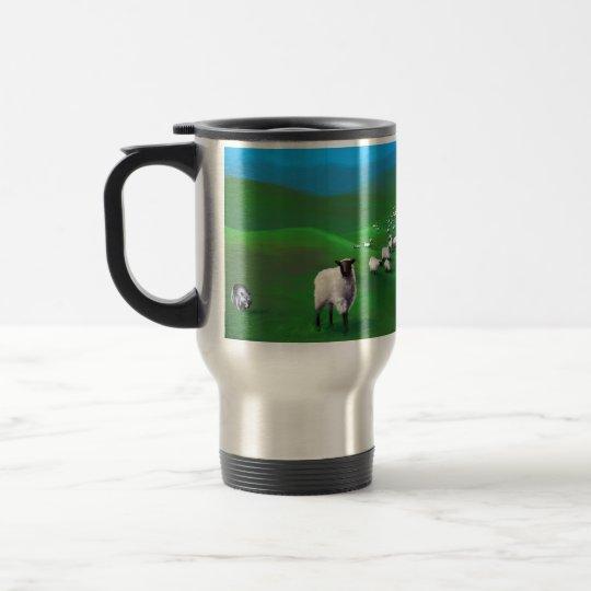 Sheep, Wolves, and Sheepdogs Travel Mug