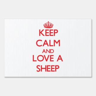 Sheep Lawn Sign