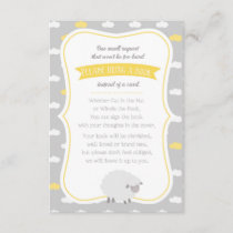Sheep (Yellow & Gray) Book Request Enclosure Card