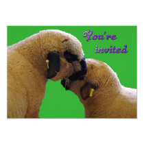 "Sheep ""You're invited"" Card"