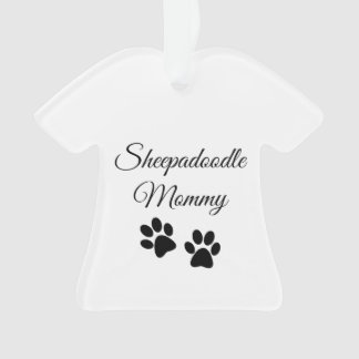sheepadoodle mommy ornament