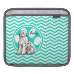 Sheepdog; Aqua Green Chevron iPad Sleeves