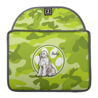 Sheepdog; bright green camo, camouflage sleeve for MacBook pro