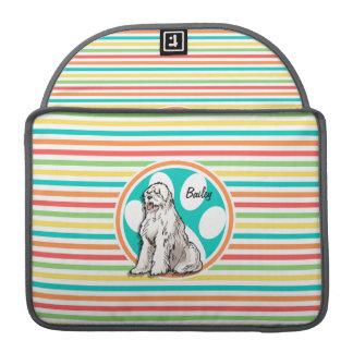 Sheepdog; Bright Rainbow Stripes Sleeve For MacBook Pro