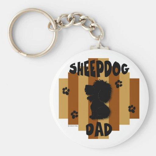 Sheepdog Dad Keychain