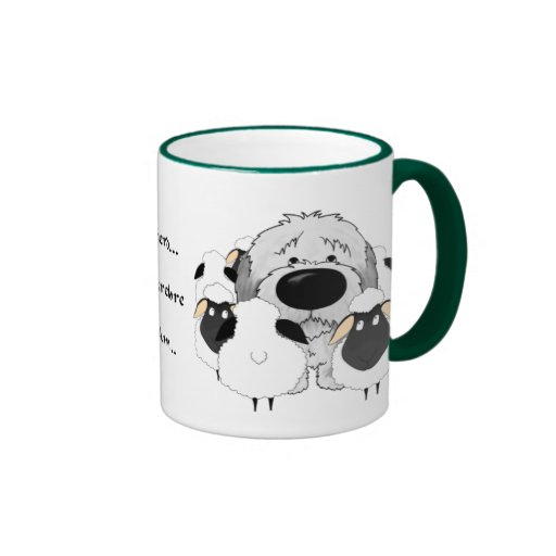 Sheepdog - I Herd... Therefore I Am... Ringer Mug
