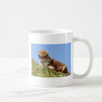 Sheepdog in french Alps Coffee Mug